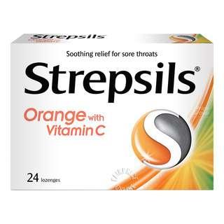 Strepsils Lozenges Box - Orange with Vitamin C