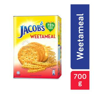 Jacob's Weetameal Crackers! For over 60 years, Jacob's has been the preferred choice for people of all ages. Generations of Singaporeans trust and love Jacob's for its taste and product quality. The Jacob's range of products has grown and evolved from a plain cracker to a comprehensive range of quality crackers including Cream Cracker, Weetameal, Hi-Fibre and Low Salt Hi-Fibre. Enjoy all of Jacob's biscuits now!