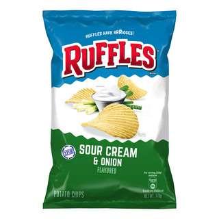 Ruffles Potato Chips - Sour Cream & Onion
