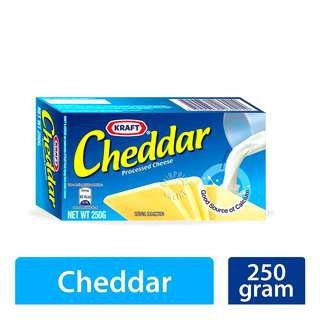 Kraft Cheddar Cheese block is made with goodness of natural cheese and healthy milk. The authentic taste of the Kraft Processed Cheddar Cheese is sure to delight your with its mild flavor. It is ideal for topping on bread, sandwiches, biscuits, and crackers. Serve as a rich source of Calcium.