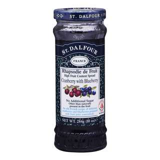 St.Dalfour Fruit Spread - Cranberry with Blueberries