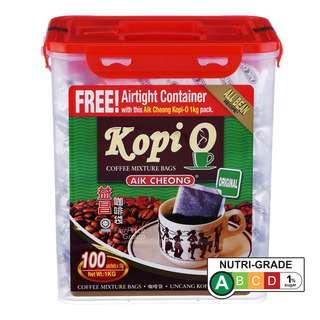 Aik Cheong KopiO Coffee - Original + Free Airtight Container