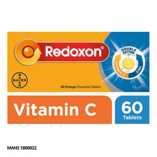 Redoxon Double Action Chewable Tablets - Orange
