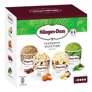 Haagen-Dazs Mini Cups Ice Cream - Favourite Selection