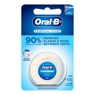 Oral-B Waxed Dental Floss - Essential (Mint)