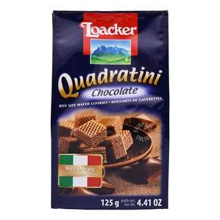 Loacker Quadratini Bite Size Wafer Cookies - Chocolate