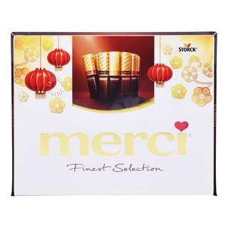 <p>The finest ingredients and a selection of delicious chocolates created by master confectioners have made Merci Finest Selection a world-wide favorite.</p>