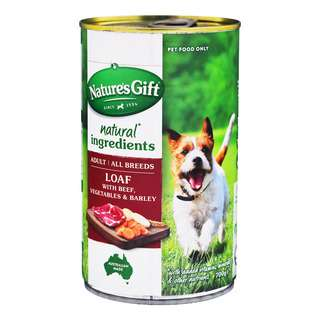 Nature's Gift Meal Time Dog Can Food - Beef Barley & Vegetables