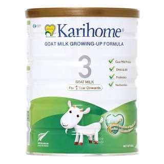 KARIHOME GOAT MILK GROWING-UP FORMULA FOR CHILDREN OVER 12 MONTHS 900G