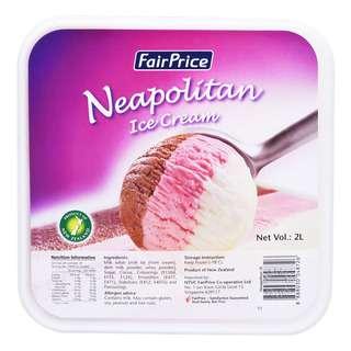 FairPrice Ice Cream Tub - Neapolitan