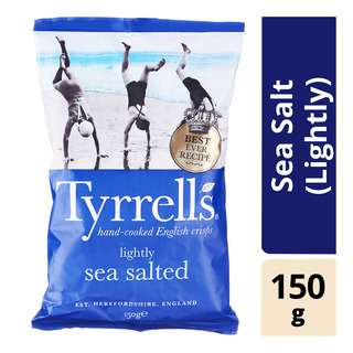 Tyrrells Hand Cooked Potato Chips - Sea Salt (Lightly)