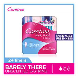 Carefree Barely There Gstring Liners - Unscented