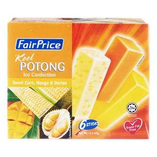 FairPrice Kool Potong Ice Cream - Sweet Corn, Mango & Durian