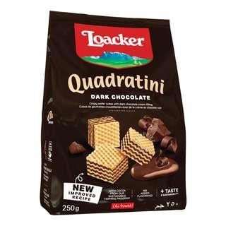 Loacker Quadratini Crispy Wafers - Dark Chocolate