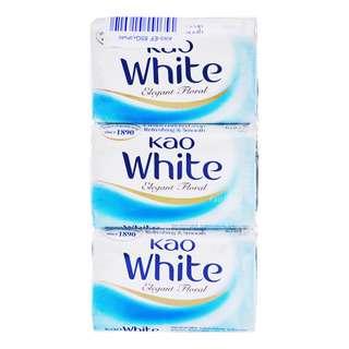 Kao White Soap Bar - Elegant Floral
