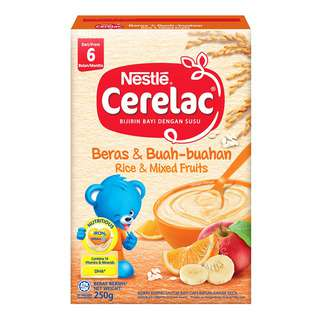 Nestle Cerelac Cereal - Rice & Mixed Fruits (6 Months)