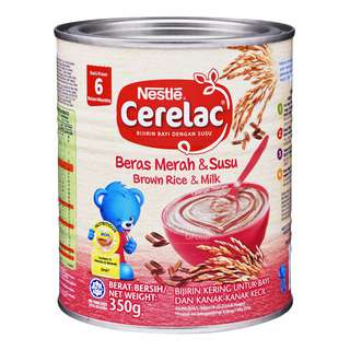 Nestle Cerelac Infant Cereal - Brown Rice & Milk (6 Months)