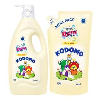 Kodomo Baby Bath with Refill - Rice Milk