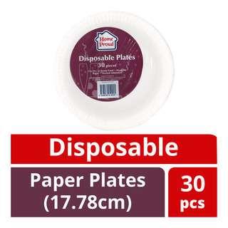 HomeProud Disposable Paper Plates (17.78cm)