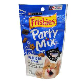 Friskies Party Mix Crunch Cat Treats - Beachside