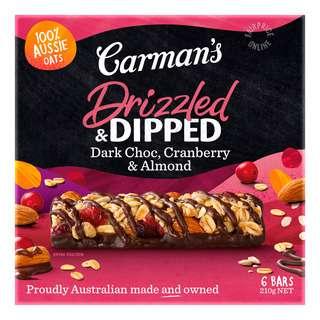 Carman's Muesli Bars - Dark Chocolate with Cranberry & Almond