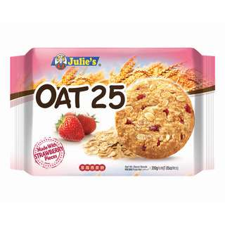 Julie's Oat 25 Cookies - Strawberry