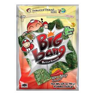 Tao Kae Noi Big Bang Grilled Seaweed - Hot & Spicy