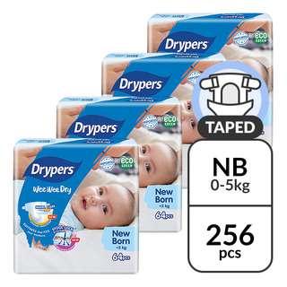 Drypers Wee Wee Dry Diapers - New Born (0-5kg)