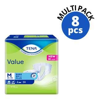TENA Value Unisex Adult Diapers - M (81-112cm)