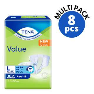TENA Value Unisex Adult Diapers - L (114-147cm)
