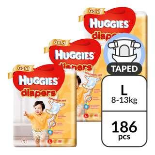 Huggies Baby Gold Tape Diapers - L (8 - 13kg)