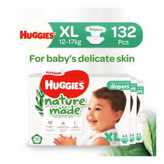 Huggies Baby Platinum Naturemade Tape Diapers - XL (12-17kg)