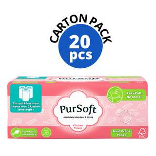 PurSoft Kitchen Towel Soft Pack (1ply)