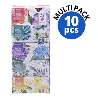 FAIRPRICE 2 PLY SOFT WHITE FACIAL TISSUE (5 X 200 SHEETS) 200S 10S