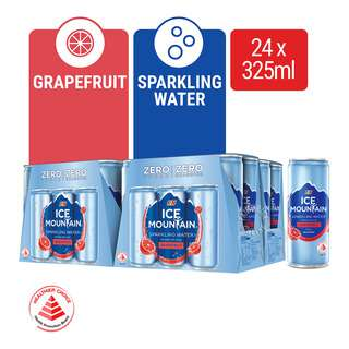 ICE MOUNTAIN SPARKLING WATER CANNED-GRAPEFRUIT FLAVOUR 4X6S 325ML