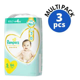 PAMPERS PREMIUM CARE TAPES S 64S 4S
