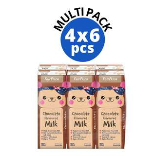 FAIRPRICE CHOCOLATE FLAVOURED MILK 4X6S 200ML