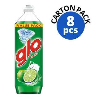 GLO PROFESSIONAL DISHWASHING LIQUID-LIME 1.35L 8S