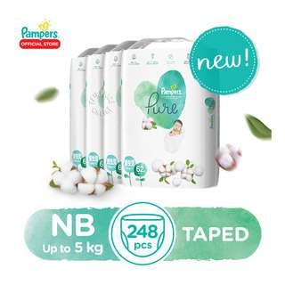 Pampers Pure Tape Diapers - Newborn (5kg)