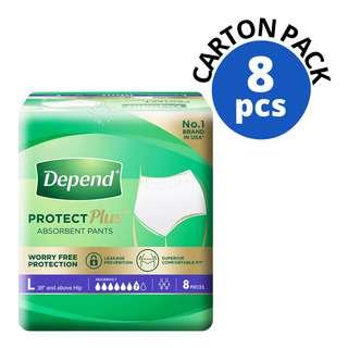 Depend Protect Pants Unisex Adult Diaper - L