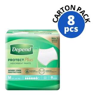 Depend Protect Pants Unisex Adult Diaper - M