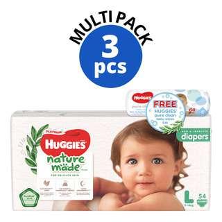 Huggies Baby Platinum Naturemade Diapers - L