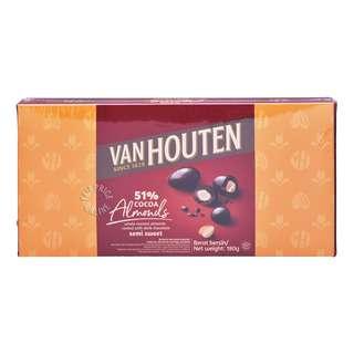 Van Houten Dark Semi-Sweet Chocolate Gift Tin - Almonds