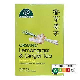 Nature's Nutrition Organic Tea Bag - Lemongrass & Ginger