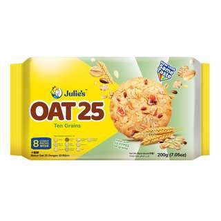 Julie's Oat 25 Cookies - Ten Grains
