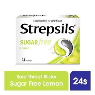 Strepsils Lozenges Box - Sugar Free (Lemon)