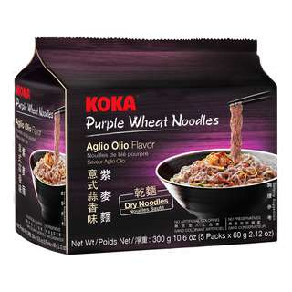 Koka Instant Purple Wheat Noodles - Aglio Olio (Dry)