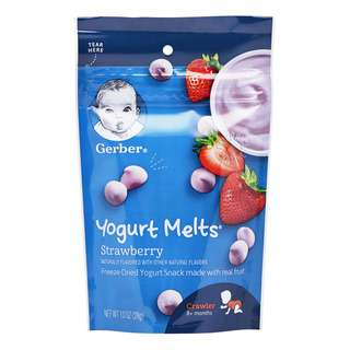<p>Gerber Graduates Yogurt Melts comes in delightful flavours such as strawberry and mixed berries.</p>