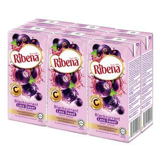 Ribena Blackcurrant Fruit Packet Drink - Less Sweet
