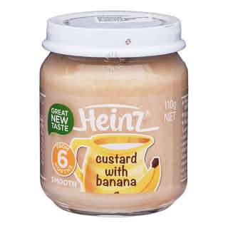 Heinz Baby Food - Custard with Banana (6+ Months)